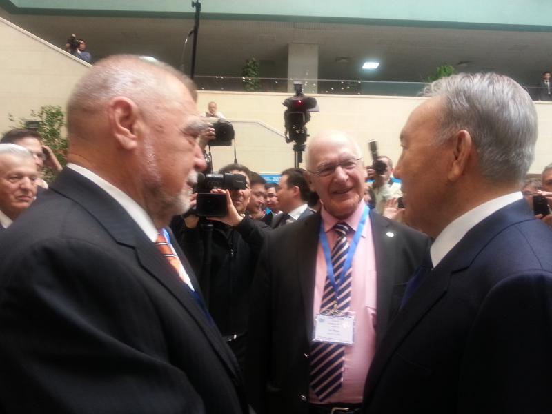 Susret predsjednika S. Mesića i predsjednika Kazahstana N. Nazarbajeva